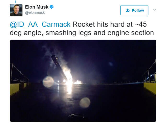 Here are some quotes from Elon Musk after various failed launches